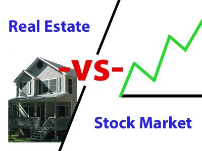 real estate vs stock market